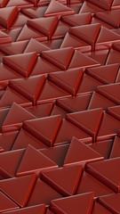 Red triangles. Puzzle. Smartphone desktop wallpaper. Art concept. 3D rendering.