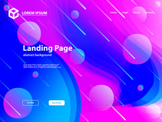 web landing page template background with abstract design and full color