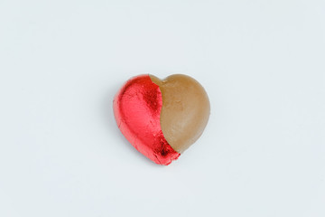 Valentine Hearts Chocolate with Candy On a white background