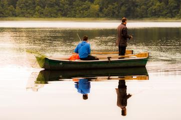 Angler auf einem Boot
