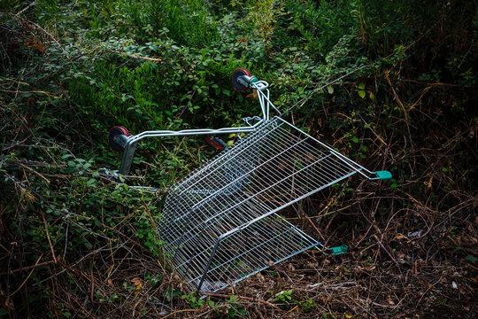 Abandoned supermarket cart