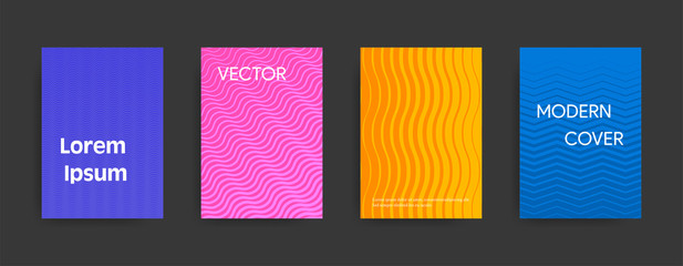 Modern abstract cover design on dark background. Vector illustration suitable for flyers, brochures, banners.