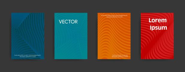 Set of modern paterns on dark background. Vector illustration suitable for flyers, brochures, banners.