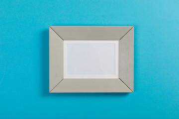 frame on blue background