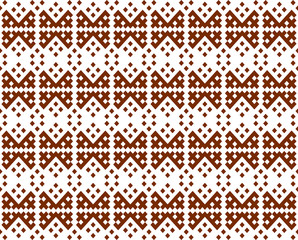 Ethnic ornament of the peoples of the North. Seamless pattern.
