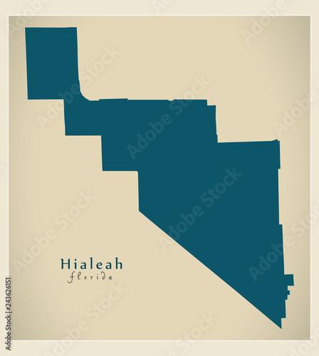 Hialeah Florida Map.Modern City Map Hialeah Florida City Of The Usa Stock Image And