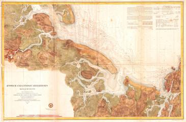 1857, U.S. Coast Survey Map of Ipswich and Annisquam, Massachusetts