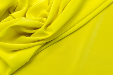 Lemon-colored crepe de chine silk