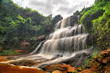 Stores photo Cascade Kintampo waterfalls (Sanders Falls during the colonial days) - one of the highest waterfalls in Ghana.
