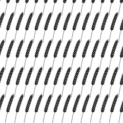 Seamless pattern. Vector illustration. Agriculture wheat Background vector icon Illustration design. Bakery design.