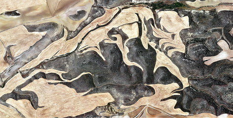 abstract photography of the Spain fields from the air, aerial view, representation of human labor camps, abstract, cubism, abstract naturalism,