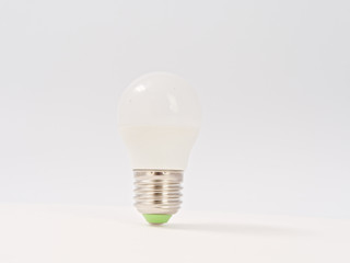 led lamps with cap on a white background
