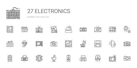 electronics icons set