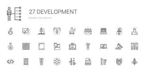 development icons set