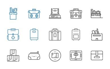 case icons set
