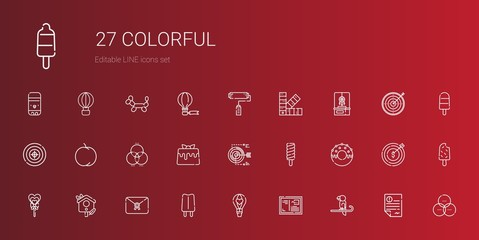 colorful icons set