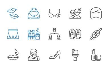 women icons set