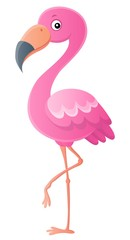 Stylized flamingo theme image 1