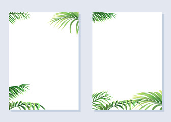 Cards with palm branches