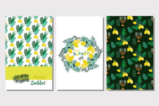 Happy Sukkot set cards1