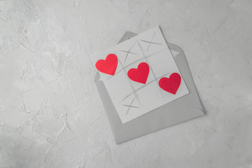 Valentine day handmade greetings card