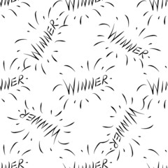 Winner vector pattern. Sketch for creative design