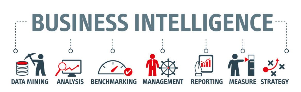 Banner Business intelligence vector illustration concept