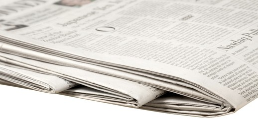 Folded Newspaper - Isolated