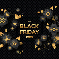 Black Friday Sale with Flowers