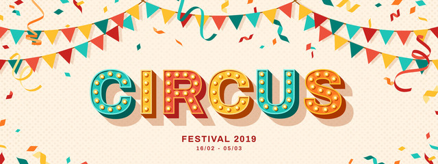 Circus retro typography design