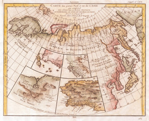 1772, Vaugondy, Diderot Map of Asia, Alaska, and the Northeast Passage