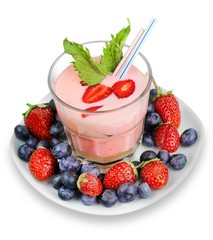 Berry Smoothie with Garnish