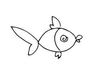 a fish. graphic vector illustration on white background
