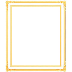 Stucco decoration, gold cartouche frame