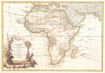 1762, Janvier Map of Africa