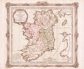1766, Desnos, de la Tour Map of Ireland