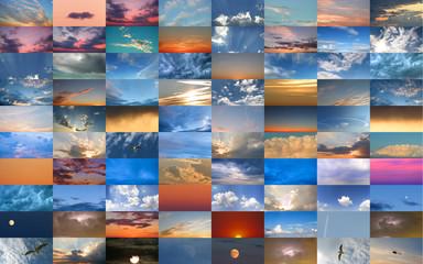 Composizione di cieli vari in orizzontale.