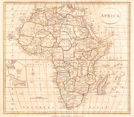 1799, Clement Cruttwell Map of Africa
