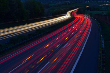 Germany, Taillights on highway Wall mural