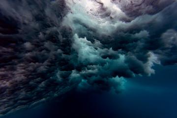 Maledives, Under water view of wave, underwater shot