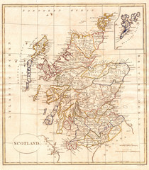 1799, Clement Cruttwell Map of Scotland