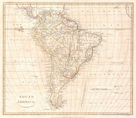 1799, Clement Cruttwell Map of South America