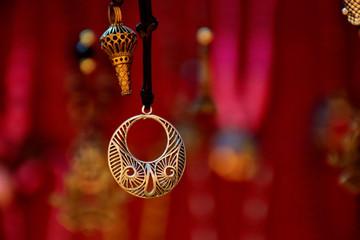 Beautiful modern silver pendant