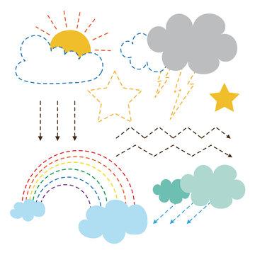 weather worksheet vector design