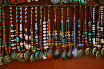 Necklaces in market