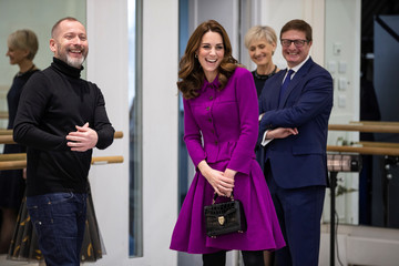 Britain's Catherine, Duchess of Cambridge visits the costume department at the Royal Opera House in London