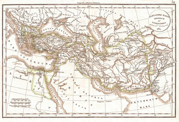 1832, Delamarche Map of the Empire of Alexander the Great