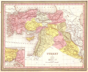 1850, Mitchell, Mitchell Map of Turkey in Asia