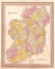 1850, Mitchell Map of Ireland