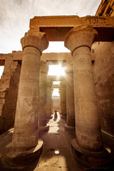 Temple of Kom Ombo dedicated to God Sobek on the Nile River near Aswan and Luxor